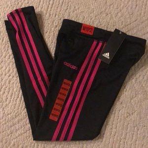 Adidas girls leggings size M 10/12 XL 16